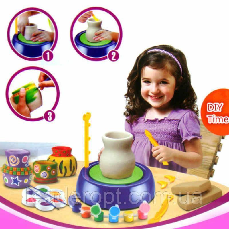 ОПТ Набір зроби сам з глини Pottery Wheel дитячий гончарний набір для дитячої творчості