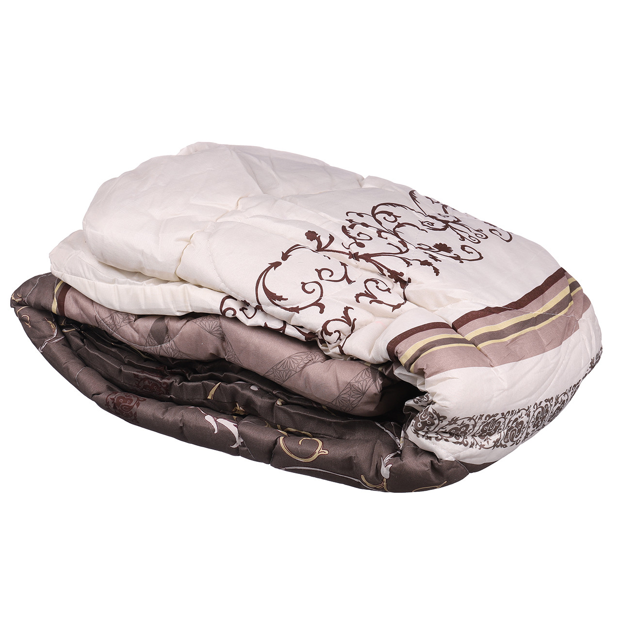 Одеяло евро Constancy 195 х 205 (29363) Узоры на темно коричневом с полоской