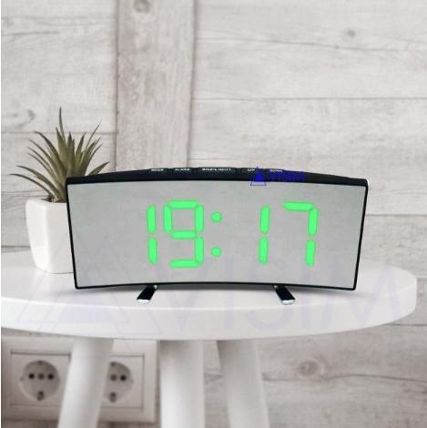 Настільні годинники Led Mirror Clock (6507) Зелена підсвітка