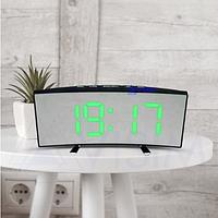 Настільні годинники Led Mirror Clock (6507) Зелена підсвітка, фото 1