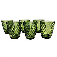 Набор стаканов Garbo Glassware 6 шт (5209DZS) Green, фото 1