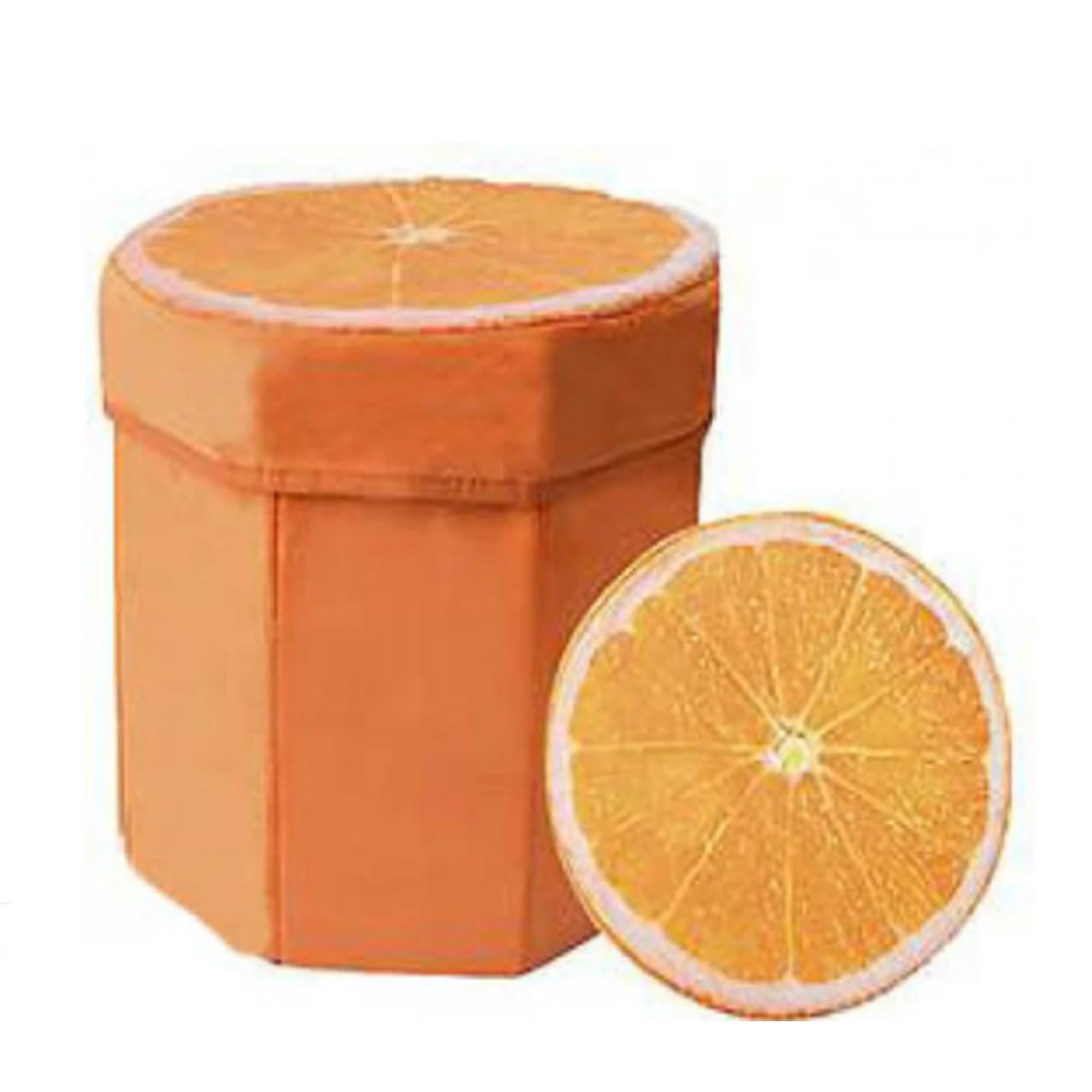 Пуфик-короб для хранения игрушек Toys Апельсин (3018)