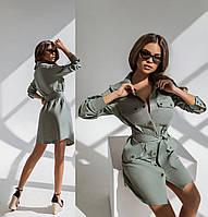 Женское платье-рубашка.Размеры:42/44,46/48+Цвета