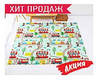 Детский раскладывающийся коврик Folding baby mat 180х200см №3 .Детский развивающий термоковрик.