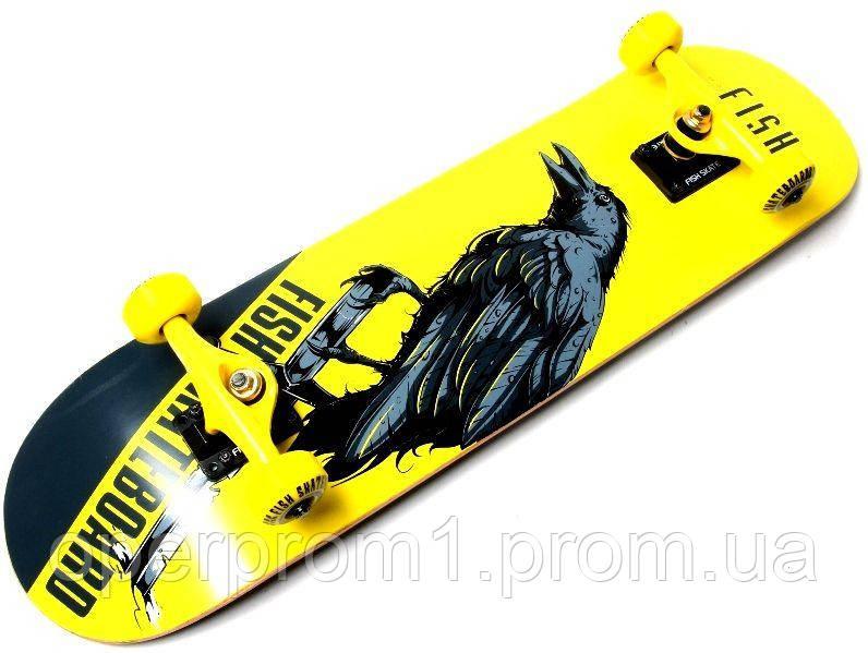 "Скейтборд деревянный от Fish Skateboard ""Raven"""