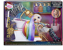 Салон краси Rainbow High Salon Playset with Rainbow of DIY Washable Hair Color Foam Мосту Хай