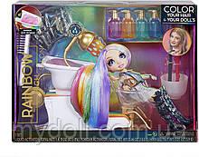 Салон красоты Rainbow High Salon Playset with Rainbow of DIY Washable Hair Color Foam Рейнбоу Хай