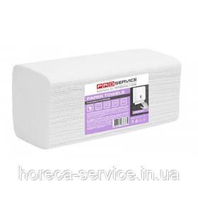 Паперові рушники листові Pro-Service Comfort V-складання целюлоза двошарові білі 200 шт.