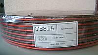 Акустический кабель Tesla биметалл red/black 2X2.5MM2 100M/ROLL прозрачный