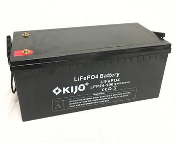 Аккумулятор Kijo FePO4-24V100Ah Lithium Iron Phosphate, 2000 циклов, АКБ без последовательного соединения