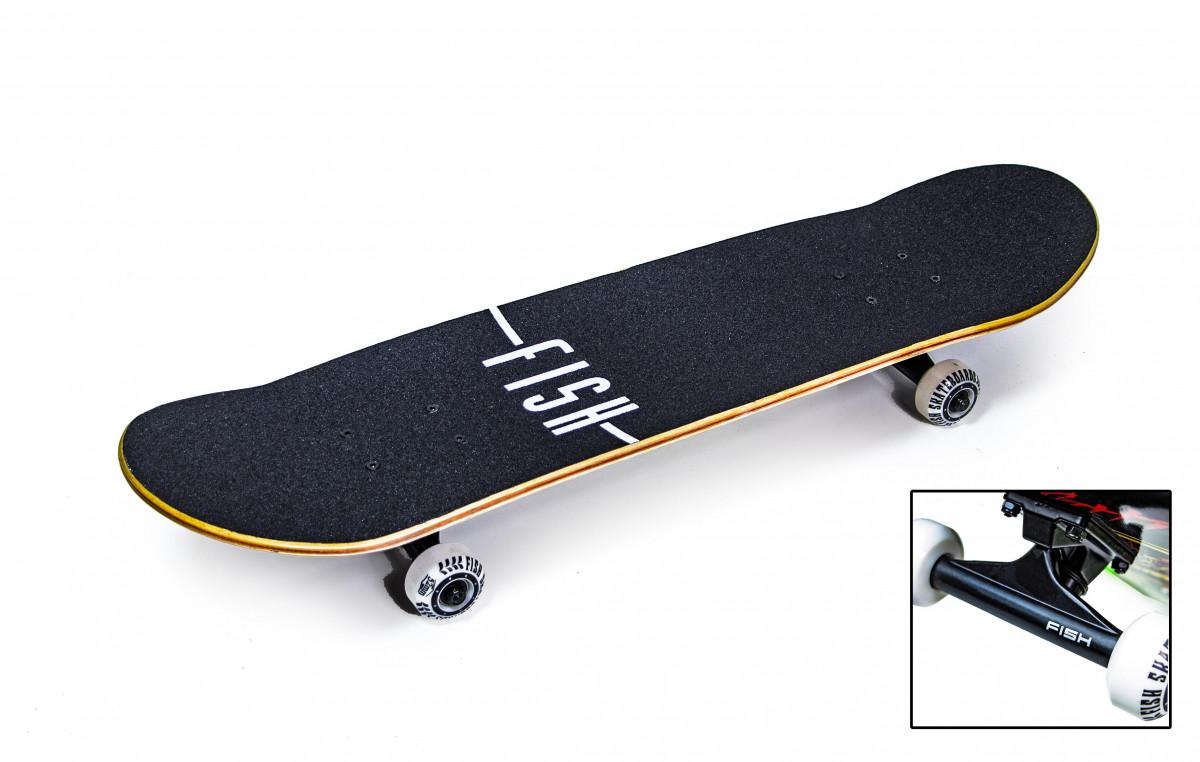 """Дерев'яний Скейтборд від Fish Skateboard """"Green Peafowl"""""""