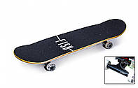 "Скейтборд деревянный от Fish Skateboard ""Green Peafowl"""
