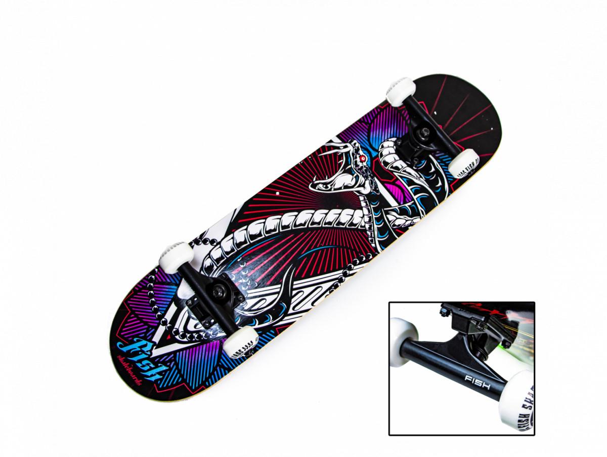 """Дерев'яний Скейтборд від Fish Skateboard """"Snake"""""""