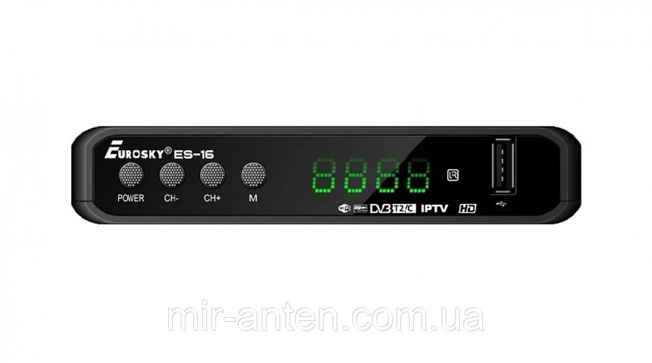 Приставка т2 Eurosky ES-16 DVB-T2