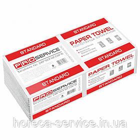 Паперові рушники листові Pro-Service Standart V-складання целюлоза білі одношарові 200 шт.