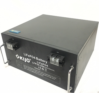 Аккумулятор Kijo FePO4-24V200Ah Lithium Iron Phosphate, 2000 циклов, АКБ без последовательного соединения