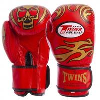Перчатки боксерские кожаные Twins MA-5436-R 10 унц  (Красный)