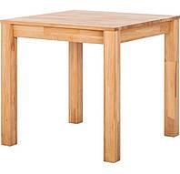 Обідній стіл в вітальню, кухню ST025 80x80 дерев'яний з бука ТМ Mobler, фото 1