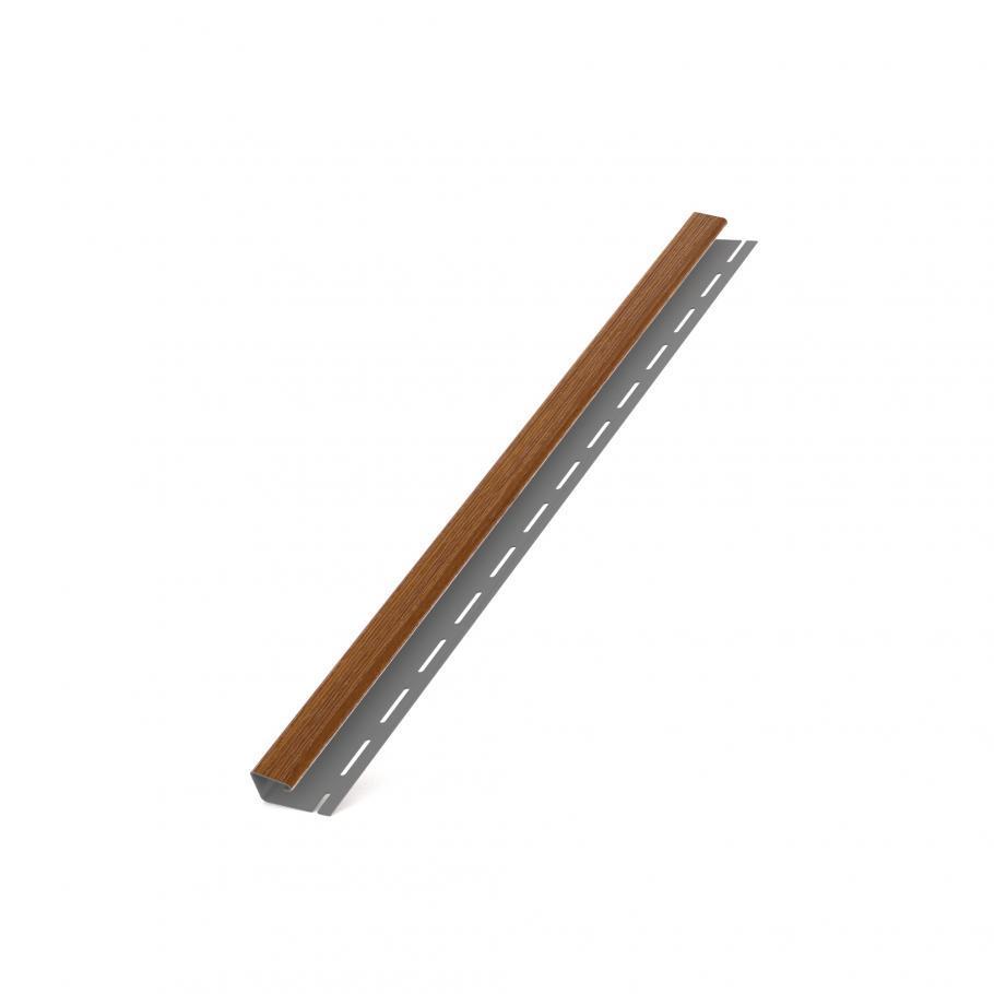 J планка BRYZA для софита золотой дуб стартовая (направляющий профиль)