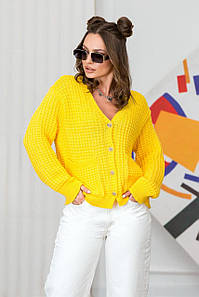 Жовта кофта-кардиган на ґудзиках Малібу