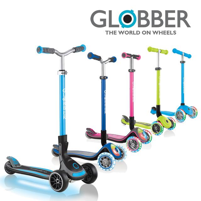 Самокаты Globber Primo, Foldable, Elite Deluxe, Prime, Master, Ultimum, Lights (от 2х лет и старше)