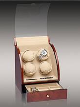 Шкатулка для 4 часов тайммувер с автоподзаводом и ящиком для хранения Rothenschild RS-324-4-DB