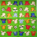 Салфетка для декупажа. Футболки игроков в футбол, 33х33 см