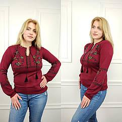 Джемпер вышиванка женская, универсальный (42-52рр), красный