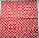 Салфетка для декупажа. Ромашки на красном фоне, 33х33 см