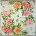 Салфетка для декупажа. английская роза, 33х33 см