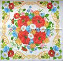 Салфетка для декупажа. Букет полевых цветов, 33х33 см