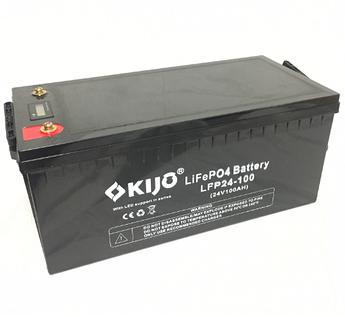 Аккумулятор Kijo FePO4-24V100Ah Lithium Iron Phosphate (WITH LED), 2000 циклов, АКБ с дисплеем