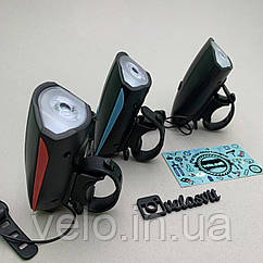 Передняя велосипедная фара + сигнал Robesbon USB