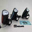 Передняя велосипедная фара + сигнал Robesbon USB, фото 7