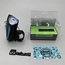 Передня велосипедна фара + сигнал Robesbon USB, фото 10