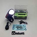 Передня велосипедна фара + сигнал Robesbon USB, фото 6