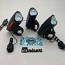 Передня велосипедна фара + сигнал Robesbon USB, фото 3