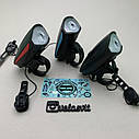 Передняя велосипедная фара + сигнал Robesbon USB, фото 3