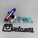 """Задний велосипедный LED фонарь-мигалка """"Полиция"""" USB., фото 2"""
