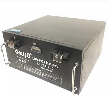Аккумулятор Kijo FePO4-24V200Ah Lithium Iron Phosphate (WITH LED), 2000 циклов, АКБ с дисплеем