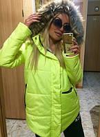 Модная зимняя куртка на силиконе  MAX MARA