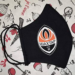 Маска защитная черная с логотипом клуба Шахтер 3х