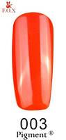 Гель-лак F.O.X. №003   красно-оранжевый, яркий  6 мл