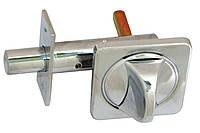 Задвижка для входных дверей квадратная 10-256 (с поворотником)