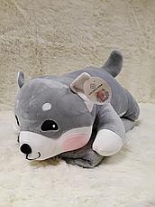 Іграшка-подушка Собачка трансформер 3 в 1 з пледом (ковдрою) всередині, 3 кольори, фото 3