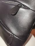 Барсетка слинг на грудь SJ-Ferrari искусств. кожа Унисекс/Cумка спортивные для через плечо(ОПТ), фото 7
