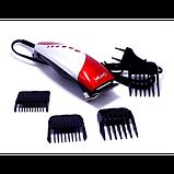 Машинка для стрижки волос (серая) Gemei GM-1015, фото 2
