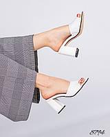 Шикарные женские босоножки на каблуке, кожаные босоножки белого цвета, женские босоножки кожа