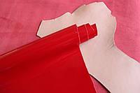 Натуральная кожа для обуви и кожгалантереи ярко-красная арт. СК 2078
