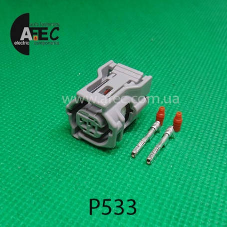 Разьем 2-х контактный датчика ABS,замка капота на Тойота,Хонда,Субару, фото 2